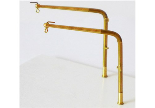 Brass Angled Davits - 50 mm