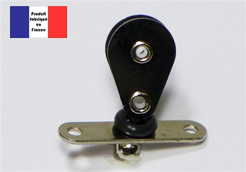 Vertical Turning Block on Side Track - Nylon Series - 10 mm