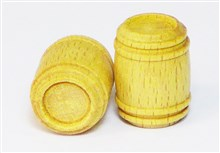 Closed Wooden Barrels - Boxwood