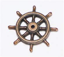 Bronzed Metal Ships Wheels