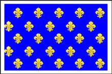 Flags of France - Kingdom Navy Heraldic Lily - Blue
