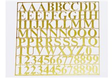 Brass Letters and Numbers