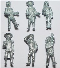 Set of 6 pcs Marine Figures - 29 mm