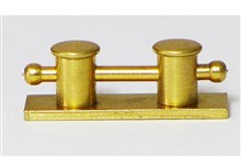 Brass Double Bollards with Bar
