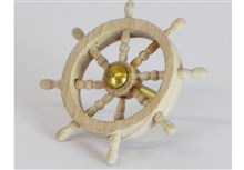 Wooden and Brass Ships Wheels - 8 Handles