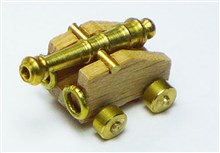 Brass Cannon Barrel with Carriage
