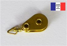 Swivel Hook Block - Brass Series - 8 mm