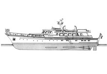 Eole Power Yacht Boat Plan Set