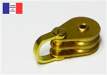 Shackle Double Block - Brass Series - 10 mm