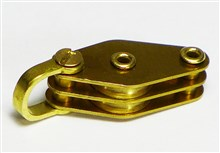 Shackle Double Block with Beckets - Brass Series - 10 mm