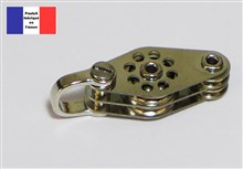 Shackle Double Block with Fiddles - Ballraced Lightweight Series - 10 mm