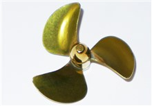 3-Blade Brass Propeller - C-Type - M4 Thread