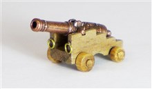 Decorative Cannons with Wooden Carriages